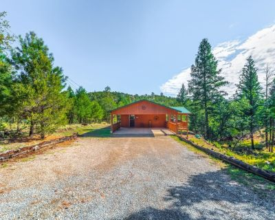 New Mexico Mountain Pine Cabin- a cozy home in the woods with a hot tub! - Alpine Cellars Village