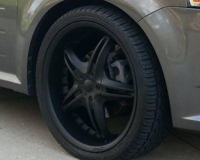 """22"""" Black D'vinci Wheels And New Falken Tires"""