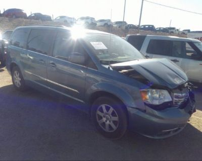 Salvage Blue 2012 Chrysler Town & Country