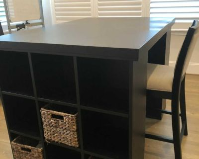 Pottery Barn Bedford Counter Height Storage Desk and Project Table w/chair