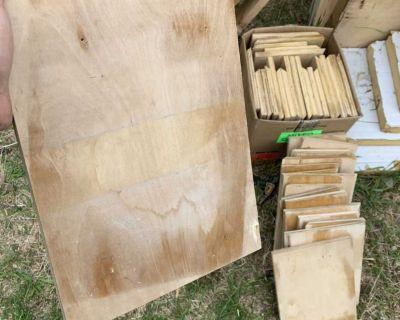 Plywood squares