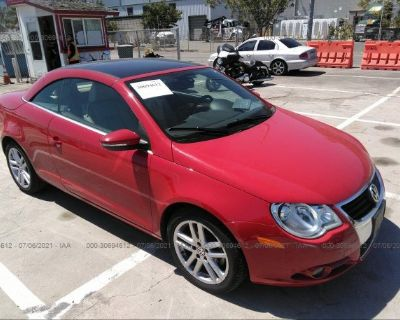 Salvage Red 2009 Volkswagen Eos