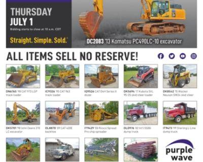 July 1 construction equipment auction