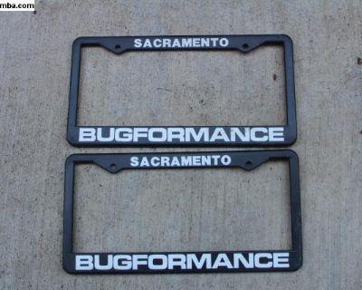 Old Bugformance License Plate Frames
