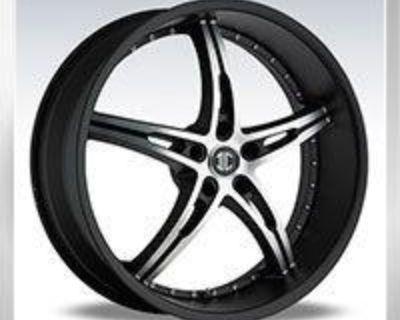 "18"" 2crave No14 Rims Wheels Black All 5 - Lug Special"