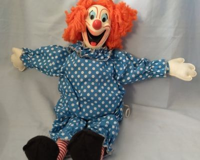 1963 Bozo the Clown In Original Box Cord Moves Freely It Does Not Talk