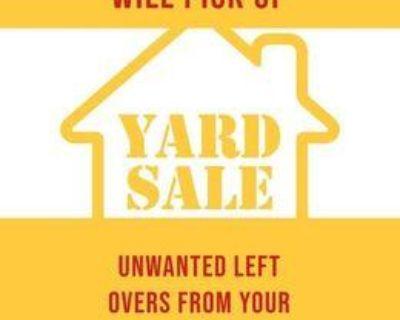 Will Pick Up Left Over Garage Sales