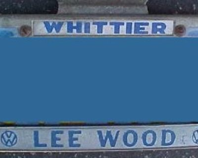 [WTB] Wanted Whittier Lee Wood VW License Plate Frame