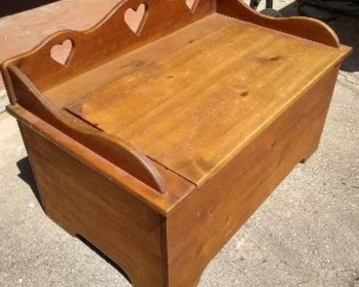 Solid Wood Toy Chest / Bench!