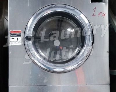 Heavy Duty Speed Queen Front Load Washer Triple Load 1PH 220V EX325 Stainless Steel Used