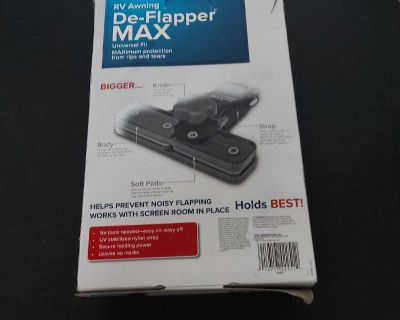 New De-Flapper for your camper, holds it in place during high winds