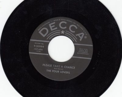 FOUR LOVERS ~ Please Take A Chance*Mint-45 !