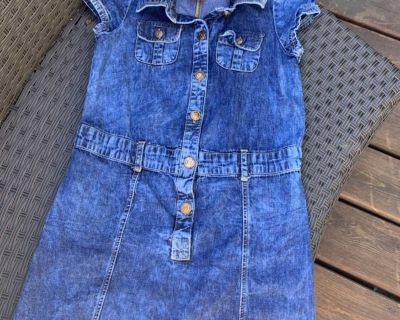 Adorable jean dress sz 7-8