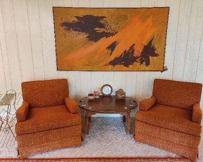 ESTATE SALE MCM Furniture, Antiques, Collectibles, Books, Trains, Etc.