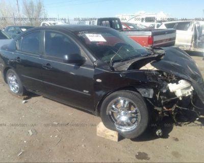 Salvage Black 2005 Mazda Mazda3