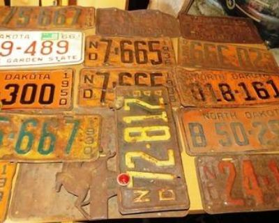 North Dakota license plates for sale fair to good condition all different prices