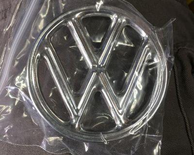 New German early 3 tab hood emblem