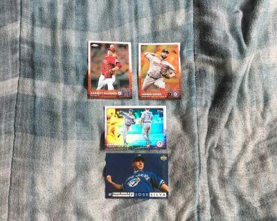 4 Holo Baseball Cards 1994, 2015