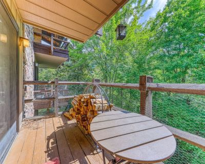 Adorable condo with balcony, fireplace & shared pool/sauna - dogs allowed! - Pigeon Forge