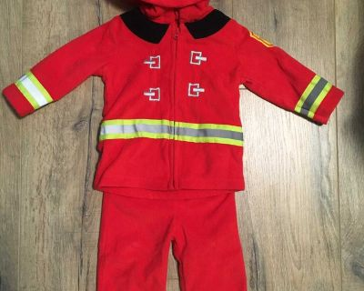 EUC Firefighter costume, size 6-9 months