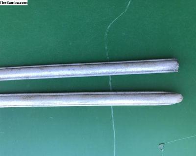 pair original split ribbed front trim aluminum