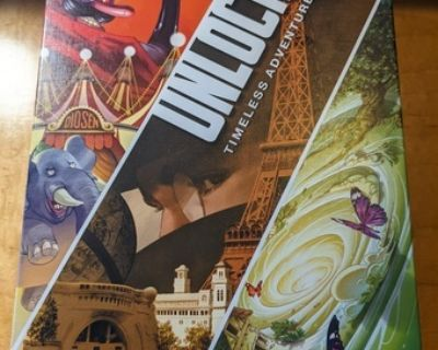 Three Unlock! games (escape room type board game)