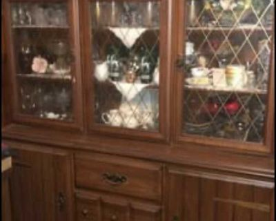 Vintage 1960 s dining room table and China hutch