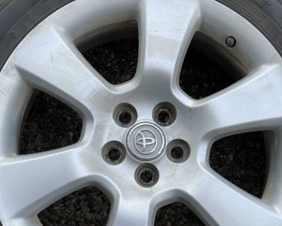 Toyota Corolla tires and rims 5x100