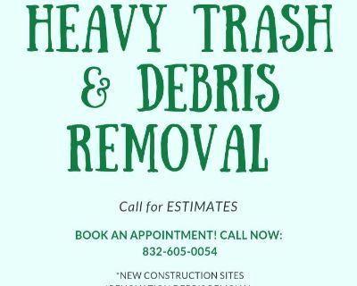 Heavy trash and debris removal
