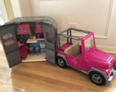 Our Generation Doll Camper & Jeep