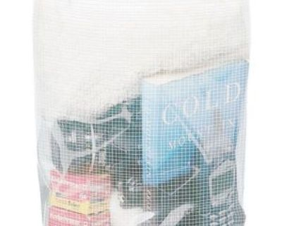 "Kwik Tek Dry Pak Roll Top Dry Gear Bag, 9"" X 16"", Mesh Reinforced Clear Wb-3"