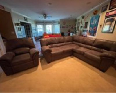 L Shape couch with recliner chair