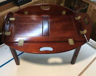 Butlers Tray Table, Vintage Bombay Mahogany Tray Table