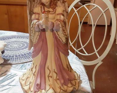 Large vintage Angel music box