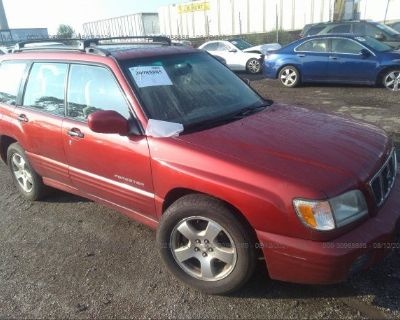 Salvage Red 2002 Subaru Forester
