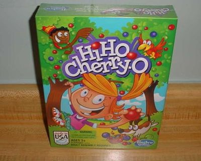 New Sealed Hasbro Gaming Hi Ho Cherry-O Numbers & Counting Board Game. Challenge Preschoolers As They Gather Cherries, Blueberries &...