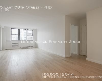 No Fee! Large, Bright 1 Bed Penthouse In  Full-service, doorman building with onsite laundry, a free gym, and tenants' sundeck!