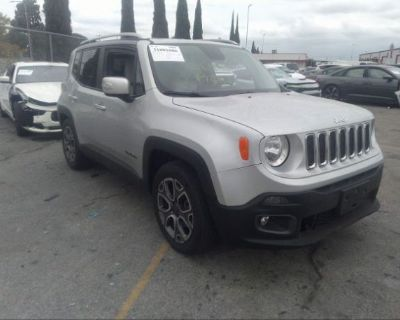 Salvage Silver 2015 Jeep Renegade
