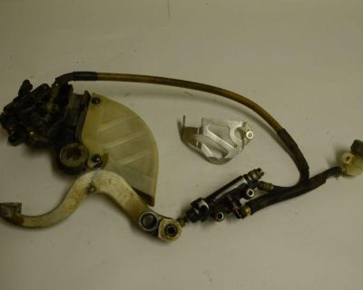 Honda Cr 125 Rear Brake Assembly Master Cylinder Pedal 1987