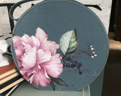 Round Vintage Suitcase