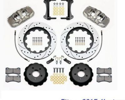"""Wilwood Aero6 Front Big Brake Kit Fits 2015 Ford Mustang,15"""" Drilled Rotors,line"""