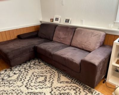 Brown couch / sectional