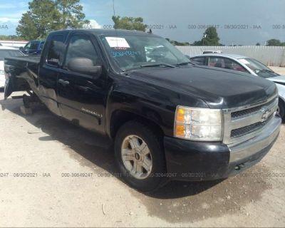 Salvage Black 2008 Chevrolet Silverado 1500