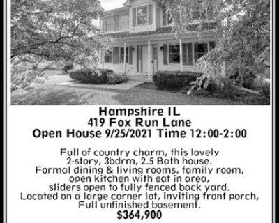 Hampshire IL 419 Fox Run Lane ...