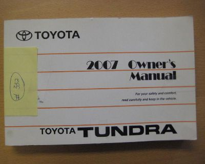 Toyota Tundra Owners Manual - 2007