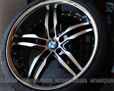 "20"" Bmw 525i 528i 530i 535i 540i E65 740i 645ci 650i Staggered Wheels Tires Pkg"