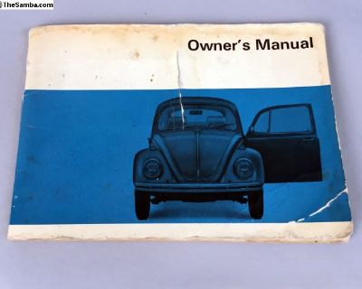 1969 -Type 1 Bug - Owners Manual - Complete/Blank