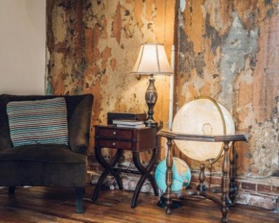 Eccentric Reading Room with Vintage Props in Funky 100 Year Old Building, Denver, CO