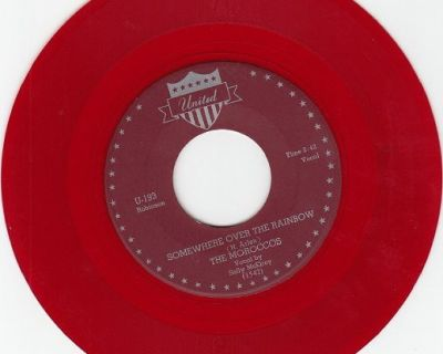 MOROCCOS ~ Somewhere Over The Rainbow*Mint-45*RARE RED WAX !