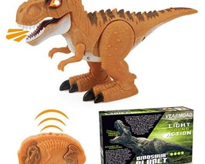 New - VEARMOAD T-Rex Dinosaur Toy, Remote Control Dinosaur Toy Electronic RC Dino Toys with Realistic Roar